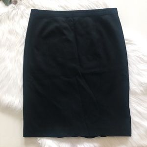 J. Crew Wool Pencil Skirt with Ruffle Back Detail